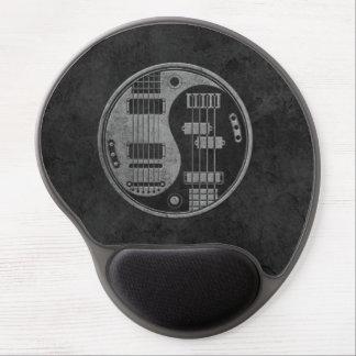 Guitarra y Yin bajo Yang con textura oscura Alfombrilla De Ratón Con Gel