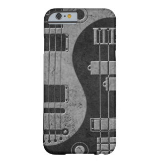 Guitarra y Yin bajo Yang con textura oscura Funda De iPhone 6 Barely There