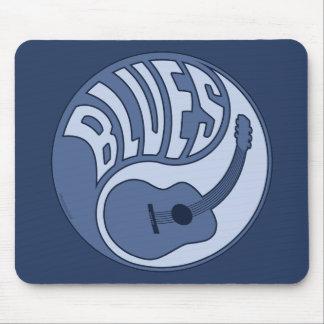 Guitarra Yin Mousepad de los azules Tapetes De Raton