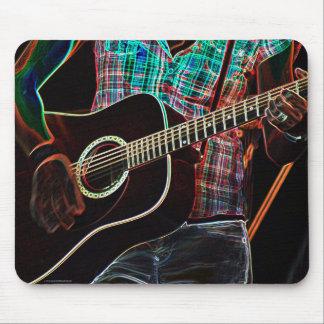 Guitarras #1 tapete de ratón