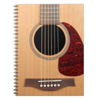 Guitarras acústica de la secuencia de Dreadnought Cuaderno