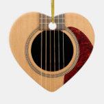 Guitarras acústica de la secuencia de Dreadnought Adorno De Cerámica En Forma De Corazón