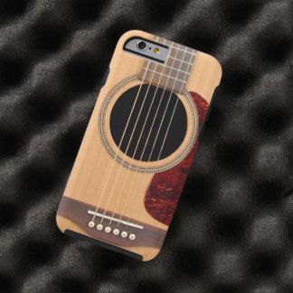 Guitarras acústica de la secuencia de Dreadnought Funda De iPhone 6 Tough