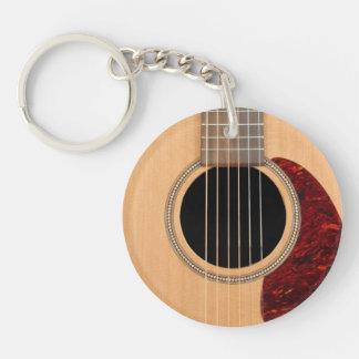Guitarras acústica de la secuencia de Dreadnought Llavero Redondo Acrílico A Doble Cara