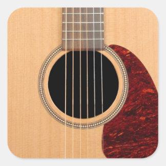 Guitarras acústica de la secuencia de Dreadnought Pegatina Cuadrada