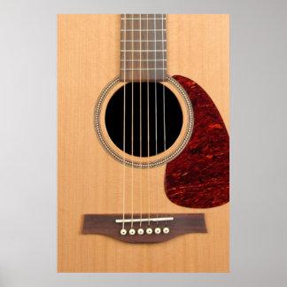 Guitarras acústica de la secuencia de Dreadnought  Póster