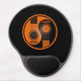 Guitarras acústicas anaranjadas y negras Yin Yang Alfombrilla Con Gel