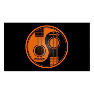 Guitarras acústicas anaranjadas y negras Yin Yang Tarjetas De Visita