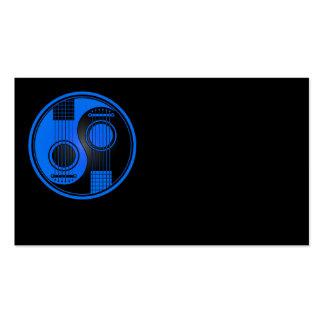 Guitarras acústicas azules y negras Yin Yang Tarjetas De Visita