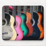 Guitarras acústicas coloridas Mousepad Alfombrilla De Raton