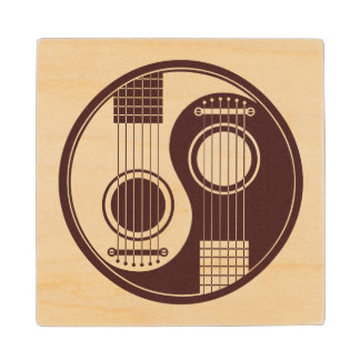 Guitarras acústicas de madera Yin Yang Posavasos De Madera
