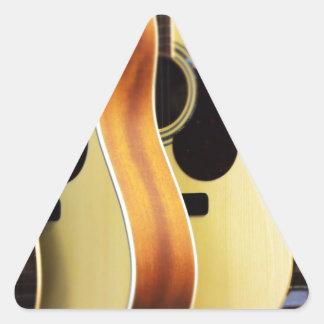 Guitarras acústicas calcomanías triangulos personalizadas