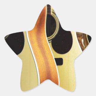Guitarras acústicas pegatina en forma de estrella