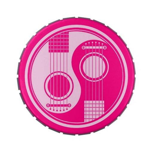 Guitarras acústicas rosadas Yin Yang Jarrones De Caramelos
