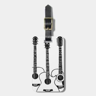 guitarras acústicas simples etiqueta para maleta