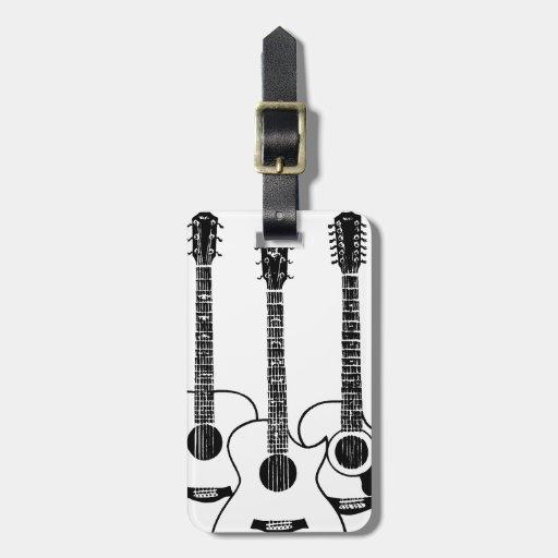 guitarras acústicas simples etiquetas maleta