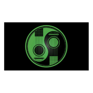 Guitarras acústicas verdes y negras Yin Yang Tarjetas De Visita