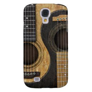 Guitarras acústicas viejas y gastadas Yin Yang