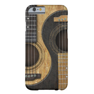Guitarras acústicas viejas y gastadas Yin Yang Funda Para iPhone 6 Barely There