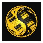 Guitarras amarillas y negras de Yin Yang Anuncio