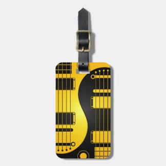 Guitarras amarillas y negras de Yin Yang Etiquetas Bolsa