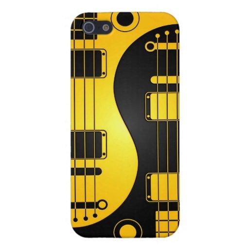 Guitarras amarillas y negras de Yin Yang iPhone 5 Cobertura