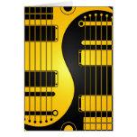 Guitarras amarillas y negras de Yin Yang Felicitacion