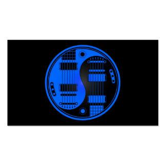 Guitarras azules y negras de Yin Yang Tarjetas De Visita