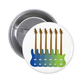 Guitarras bajas coloridas pins
