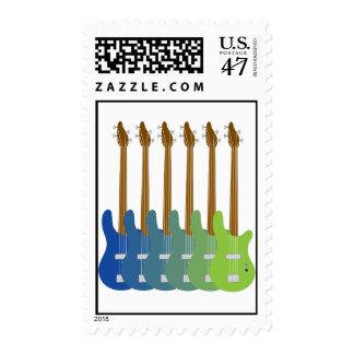 Guitarras bajas coloridas sellos