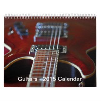 Guitarras - calendario 2016