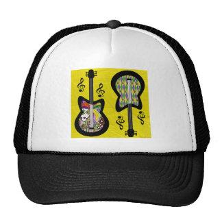 Guitarras coloridas del carnaval gorros bordados