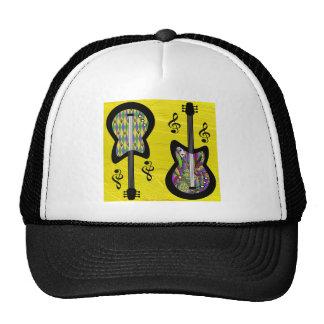 Guitarras coloridas del carnaval gorras de camionero