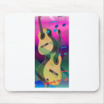Guitarras coloridas del fiesta tapete de raton