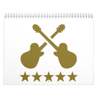 Guitarras cruzadas calendario