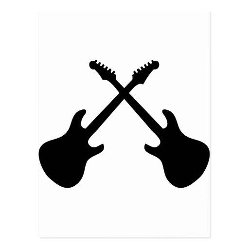 Guitarras de E cruzadas Postales