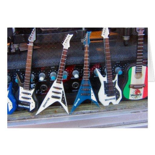 Guitarras de Hollywood Tarjeta De Felicitación
