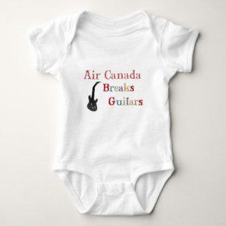 Guitarras de las roturas de Air Canada Body Para Bebé
