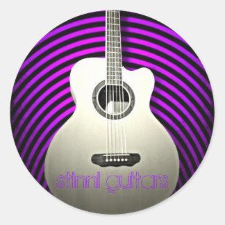 Guitarras de Stinni Pegatina Redonda