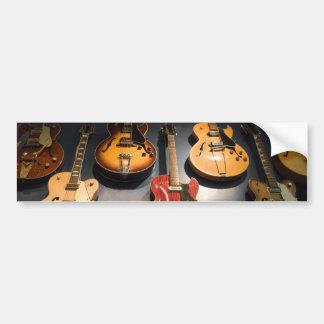 Guitarras del vintage pegatina para auto