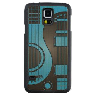Guitarras eléctricas acústicas azules y negras Yin Funda De Galaxy S5 Slim Arce