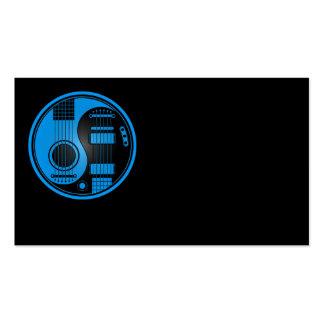 Guitarras eléctricas acústicas azules y negras Yin Tarjetas De Visita