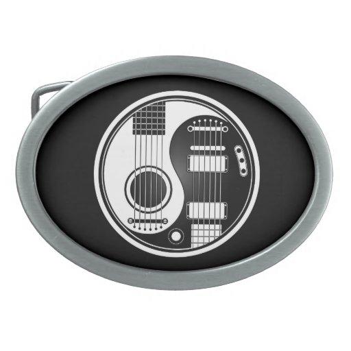 Guitarras eléctricas acústicas blancas y negras Yi Hebilla De Cinturón