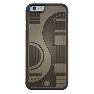 Guitarras eléctricas acústicas grises y negras Yin Funda De iPhone 6 Bumper Arce