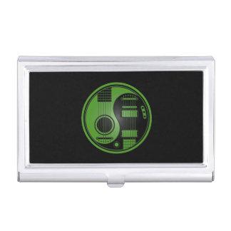 Guitarras eléctricas acústicas verdes y negras Yin Caja De Tarjetas De Presentación