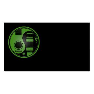 Guitarras eléctricas acústicas verdes y negras Yin Tarjetas De Visita
