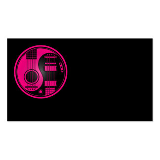 Guitarras eléctricas acústicas Yin Yang del rosa y Tarjetas De Visita