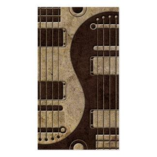 Guitarras eléctricas ásperas Yin Yang de Brown Tarjetas De Visita