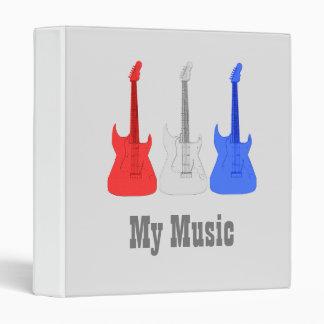"Guitarras eléctricas blancas y azules rojas - carpeta 1"""