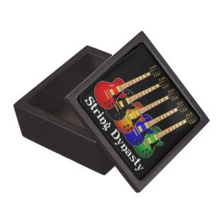 Guitarras eléctricas de la dinastía de la secuenci cajas de joyas de calidad